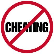 Cheating is a no-no!