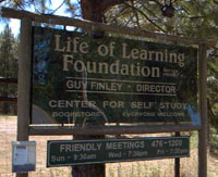 Life of Learning Fountation sign