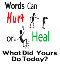 words can heal poster